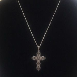 925 Mexico cross necklace